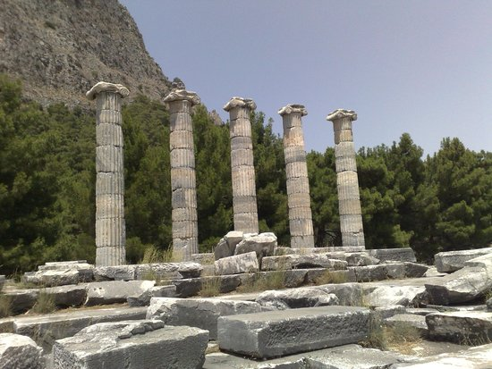 Priene: The ruins of the temple of Athena
