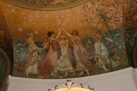 "Parlament : Jugendstilmotive im Raum ""Rose"""