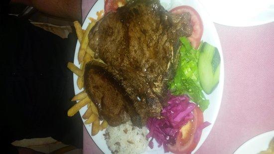 Joseph's Restaurant: T bone steak  before