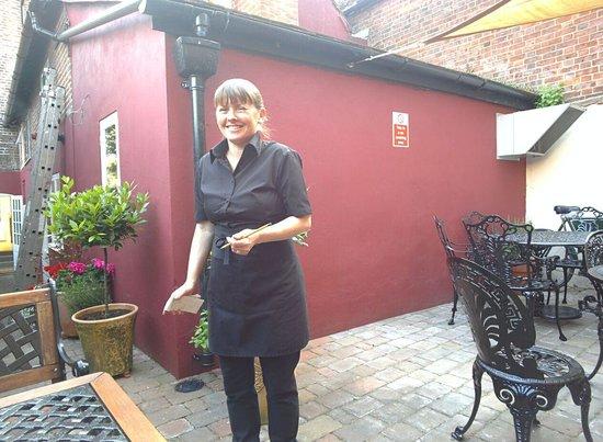 lovely waitress at Godfrey's in Harpenden