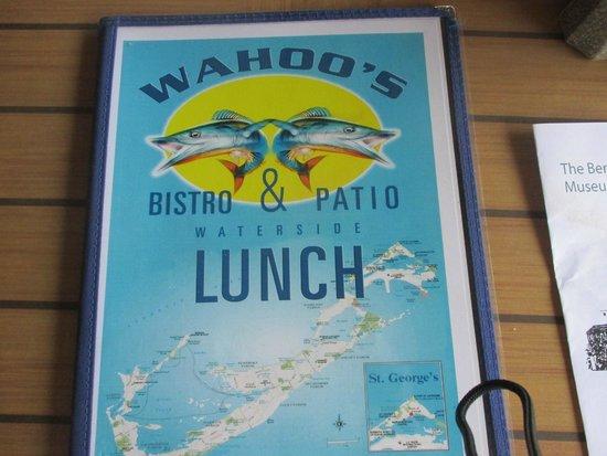 Wahoo's Waterside Bistro & Patio: Menu