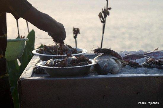 Varkala Beach: Fish at bars and restaurants