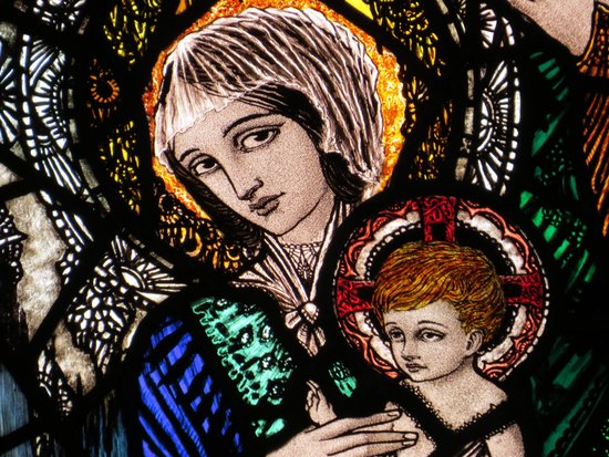 Harry Clarke Stained Glass Windows: window - visit of the Magi