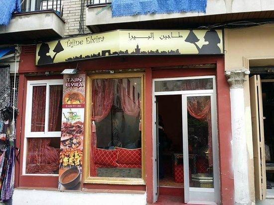 Tajine Elvira: Front of the restaurant