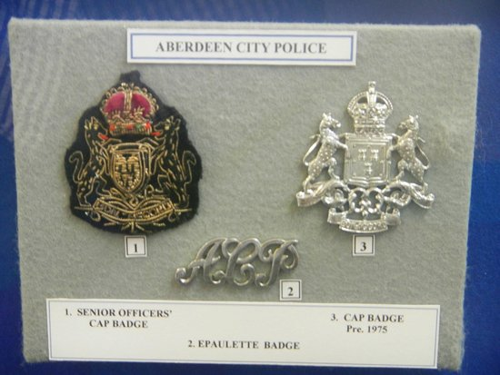 Glasgow Police Museum: Aberdeen City Police Badges