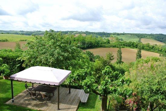 Cuq en Terrasses : View from Garden