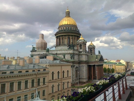 Renaissance St. Petersburg Baltic Hotel: view from top floor bar