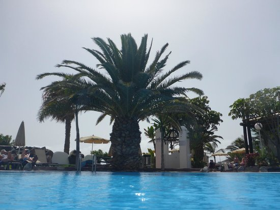 H10 Timanfaya Palace: looking towards the sea from the pool
