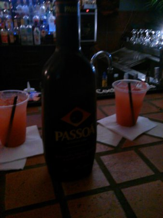 Congas by the Sea: rum punch with a splash of passoa