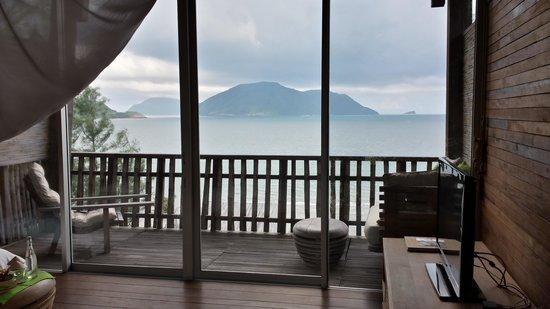 Six Senses Con Dao : Vue de l étage ( villa vue sur mer /2ème niveau )