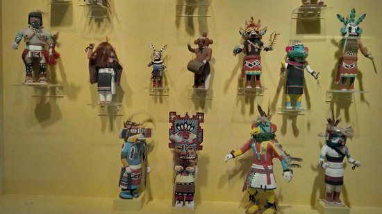 Honolulu Museum of Art: One section of a Hopi Kachina collection