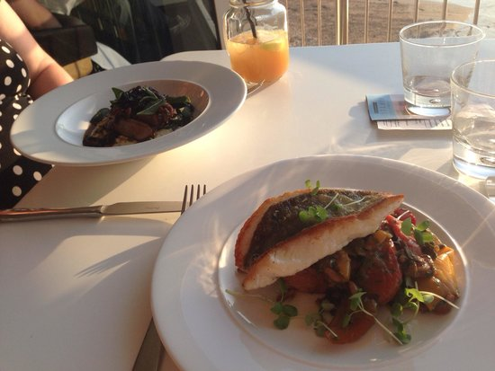 Jamie Oliver's Fifteen Cornwall: John Dory and Pan Fried Duck breast.