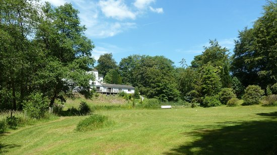 The Mill at Glynhir: Rear of property viewed from the meadow