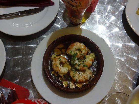 Ca l'Aureli: Sizzling prawns