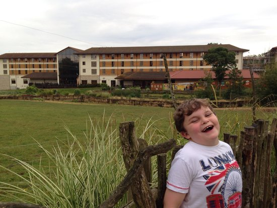 Chessington Safari Hotel : View of the hotel from the reserve