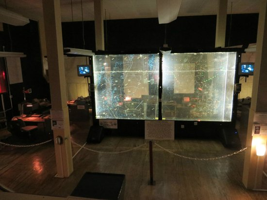 Scotland's Secret Bunker: blast and fallout display in the bunker's war room