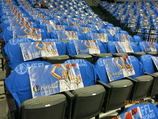 American Airlines Center: Shirts all over