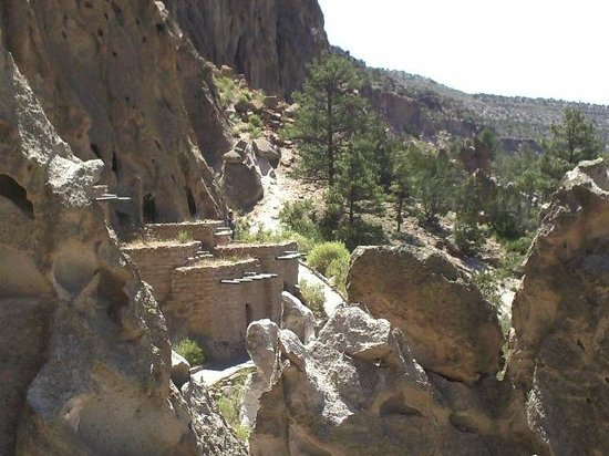 Bandelier National Monument: More ancient buildings built into the tuff
