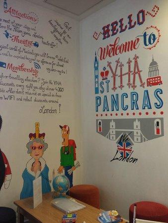 YHA London St Pancras : Recepción