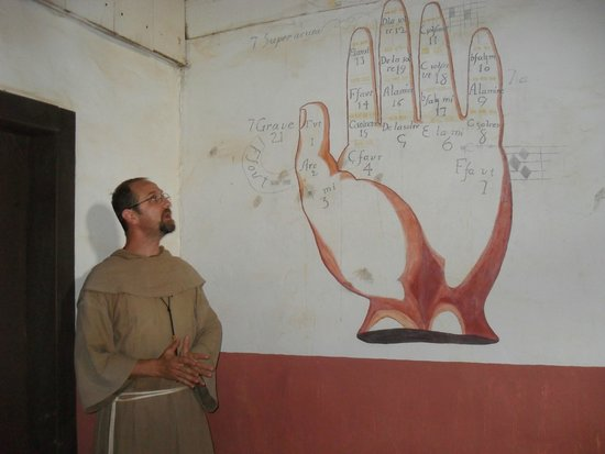 Mission San Luis de Apalachee : Friar and the Latin Music Scale Hand - How Indian Children Were Taught Music