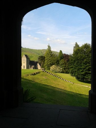 YHA Ilam Hall: View to the church