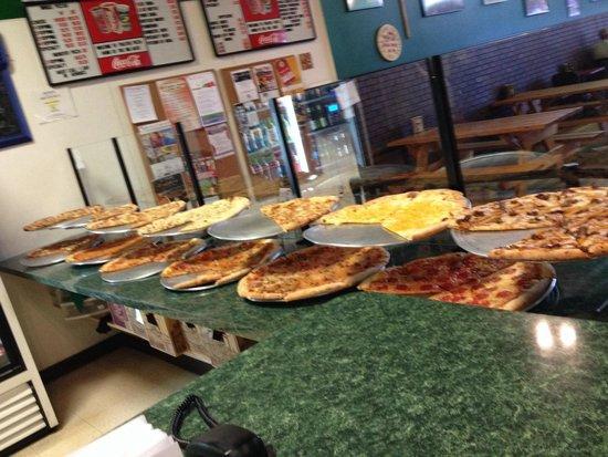 Polito's Pizza: 13 different pizzas: Mac&Cheese, Steak&Fries, Feta&Spinach&Tomato BarbecueChicken&Bacon plus the