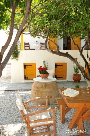 Hôtel Aegean Village : Garden and Reception