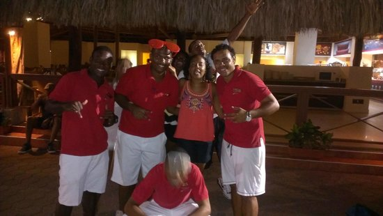 Sunscape Curaçao Resort Spa & Casino: In the Pool area with the Entertainment Team!!!