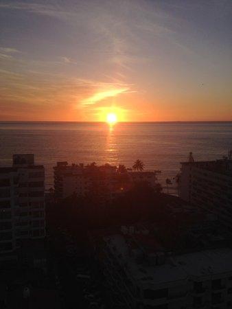 sunset from La Palapa