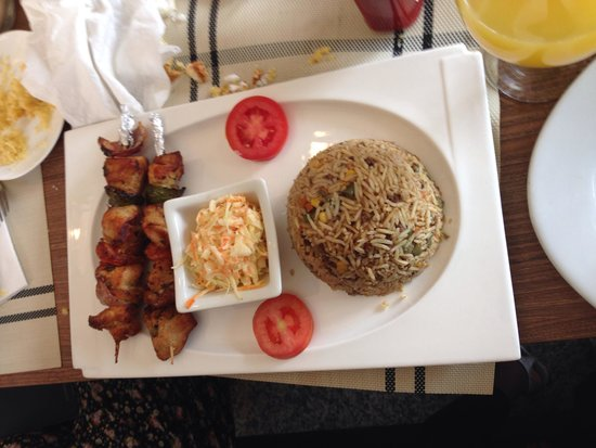 Tulip bistro: Rice, slaw and kebab