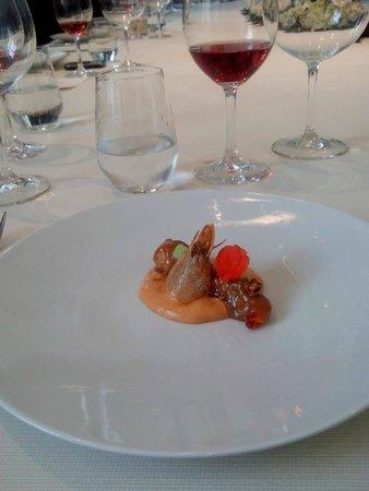 Casa Hacienda Moreyra Restaurante: Langostino melcocha