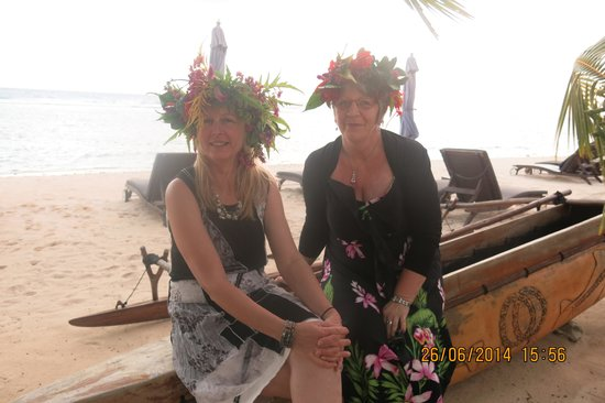 Manuia Beach Resort: Me and my beautiful friend
