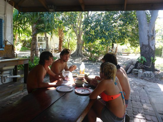 Great Keppel Island Holiday Village: near the kitchen and barbecue
