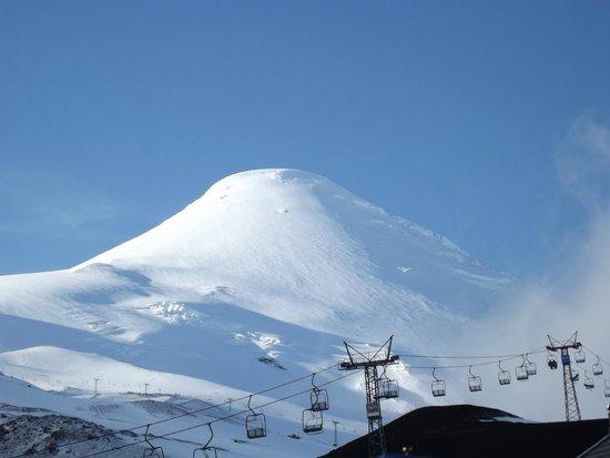 Volcan Osorno: vista do vulcão na primeira etapa