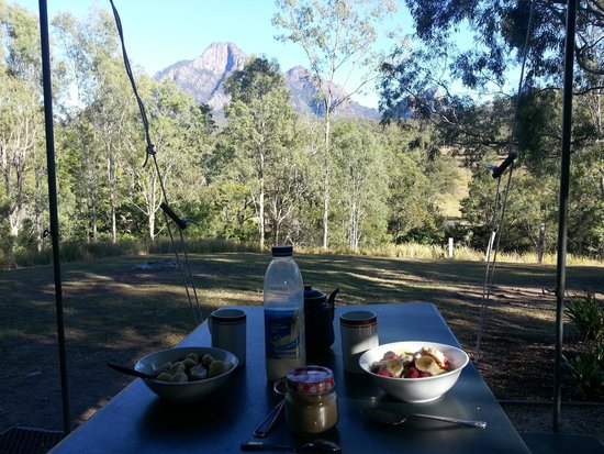 Mt Barney Lodge Country Retreat: Breakfast with a view