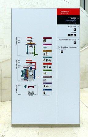 British Museum layout - in Bloomsbury