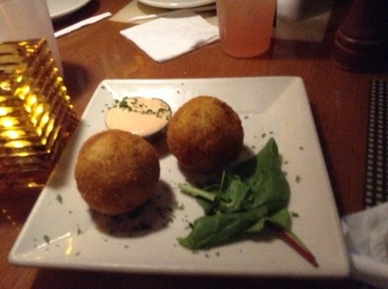Havana Rumba: mashed potato balls... $7.95 for 2 golf ball size. they were cold