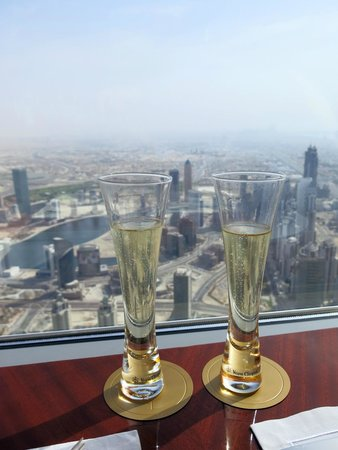 At.Mosphere Restaurant: Champagne with a view