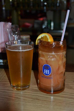 Brat Stop: Farmhouse Ale Spotted Cow and the Most Wonderful Mai Tai served by Liz