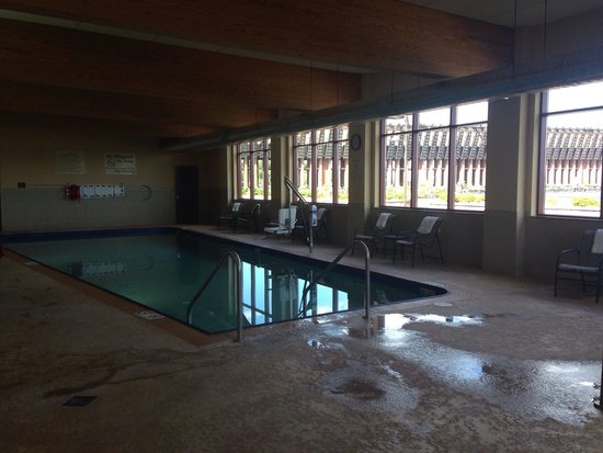 Hampton Inn Marquette/Waterfront : Salt water pool