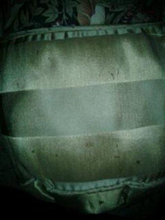 Fulton Steamboat Inn: Dirty decorative pillow