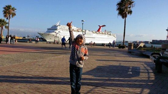 Avenida Lopez Mateos: View of Cruise ship from shore