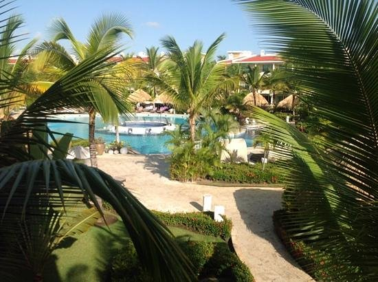 The Reserve at Paradisus Punta Cana: view of reserve pool from second floor balcony