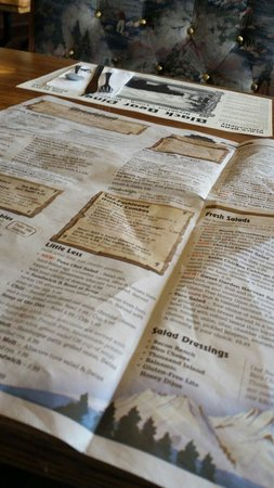 Black Bear Diner - Mt. Shasta : Menu