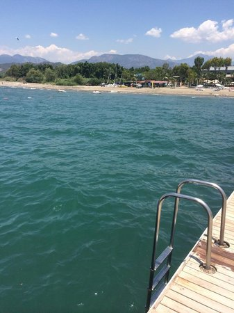 Club Tuana Fethiye: view from jetty for swimming in the sea