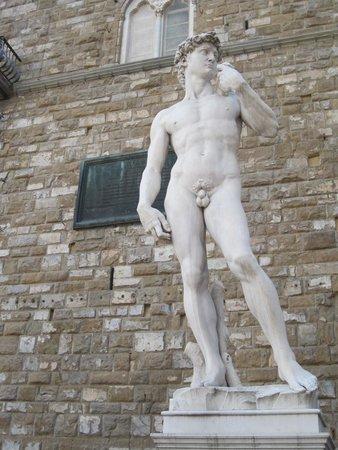 Piazza della Signoria: David Reproduction