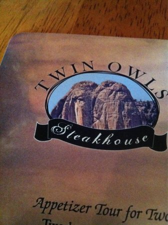 Twin Owls Steakhouse: Menu