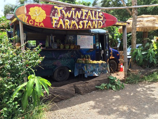 Farm stand at the entrance - Picture of Twin Falls Maui ...