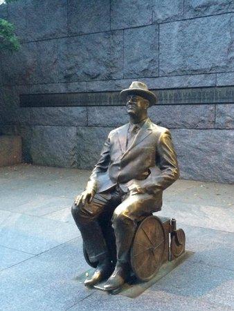 Franklin Delano Roosevelt Memorial: In his Wheelchair