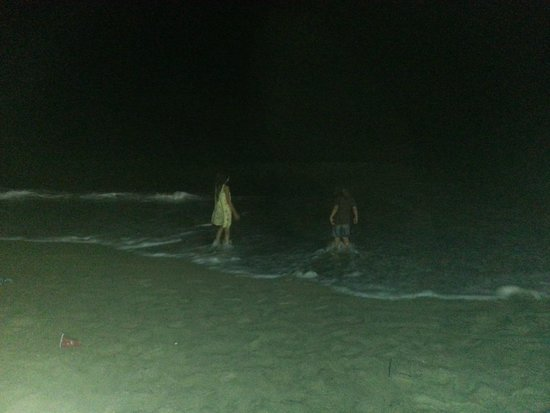 Image result for beach in night time